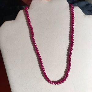 Jewelry - 🔴Fuchsia Pearl Hawaiian Necklace🔴